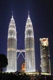 Maleisië; Kuala Lumpur; tweeling torens van petronas Royalty-vrije Stock Foto's