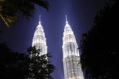 Maleisië; Kuala Lumpur; tweeling torens van petronas stock afbeelding