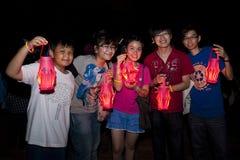 Maleisië viert het Uur 2011 van de Aarde Stock Foto