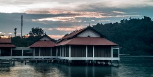 Maleisisch huis in Maleisië Pulau Pangkor Royalty-vrije Stock Foto's