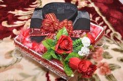 Maleisische huwelijksbruidsschat Stock Foto's