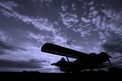 malejący samolot obrazy royalty free