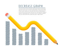 Malejący wykresu pojęcie ilustracja wektor
