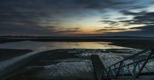 Malejący jetty w zmroku Zdjęcie Stock