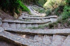 Malejący kamieni kroki Fotografia Stock