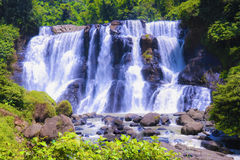 Malela waterfall. Hidden paradise in bandung indonesia Royalty Free Stock Image