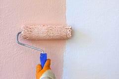 Malen der Wand lizenzfreie stockfotografie