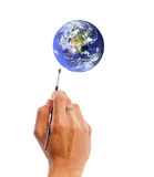 Malen der Welt Lizenzfreies Stockfoto