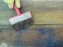 Malen des alten Brettes n stockfoto