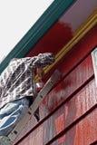 Malen eines Hauses Stockfoto