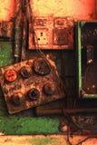 Malen Sie alte Schalttafel der Künstler Lizenzfreie Stockbilder