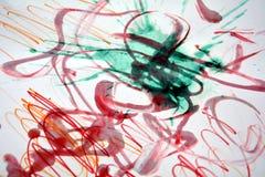 Malen Sie Aquarellwachs-Zusammenfassungshintergrund Lizenzfreies Stockfoto