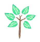 Malen Sie Bäume Stockfotos