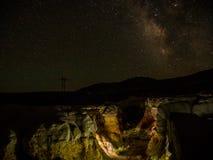 Malen Sie Bergwerk-Galaxie Stockbild