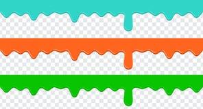 Malen Sie buntes Bratenfett auf einem transparenten Hintergrund Lizenzfreies Stockfoto