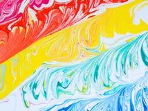Malen Sie die Stellen und mischen, Latexfarbe Lizenzfreie Stockbilder