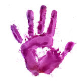 Malen Sie Druck der menschlichen Hand Lizenzfreies Stockfoto