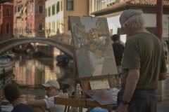 Malen Sie einen Blick von Venedig Stockbild