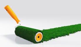 Malen Sie einen Grasstreifen stock abbildung