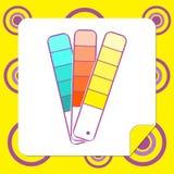 Malen Sie Farbauswahl-Broschürenikone Stockfotografie