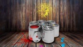 Malen Sie Farbcollage Stockfotografie