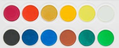 Malen Sie Farbe-pallete Lizenzfreie Stockfotos