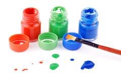 Malen Sie Flaschen Stockfoto