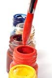 Malen Sie Flaschen Lizenzfreie Stockfotografie