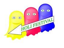 Malen Sie gehen zum Holi-Festival vektor abbildung