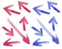 Malen Sie gezogene Pfeile eingestellt Vektorbild, Abbildung Lizenzfreie Stockfotos