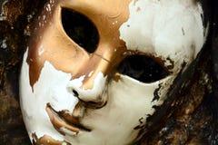 Malen Sie goldene Farben des dunklen Schmutzes der Maske Textil, Bürstenanschläge, organischer Textilhypnotikhintergrund Lizenzfreie Stockbilder