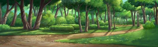 Malen Sie Illustrationen im Garten und natürlich Lizenzfreies Stockbild