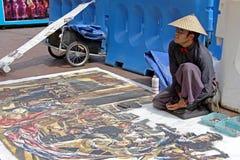 Malen Sie Künstler lizenzfreie stockfotografie