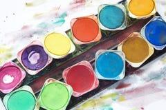 Malen Sie Kasten Stockbild