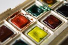 Malen Sie Kasten Stockfoto