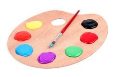 Malen Sie Palette Lizenzfreie Stockbilder