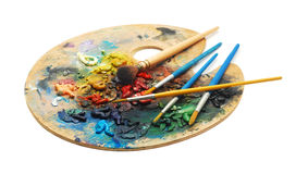Malen Sie Palette stockfotos