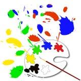 Malen Sie Palette Stockfoto
