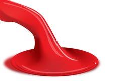Malen Sie Rot stock abbildung