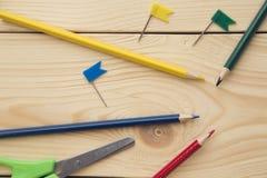 Malen Sie Satz, Bürsten und Scheren Stockbilder