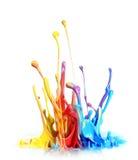 Malen Sie Spritzen Stockbild