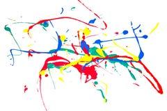 Malen Sie Stellen, Farbentropfen, Farbe auf einem weißen Hintergrund Lizenzfreie Stockfotos