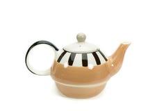 Malen Sie Teekanne lokalisiert Stockbild