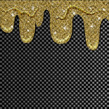 Malen Sie Tropfenfänger für Designgebrauch Goldenes Farbenbratenfett Stock Abbildung