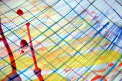 Malen Sie Wachs, abstrakten Hintergrund mit Stiftlinien Stockfotos