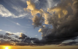 Malen von Texas Sunset Lizenzfreie Stockfotos