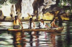 Malen von vier Indies lizenzfreie abbildung