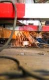 Malend staal onder mening Royalty-vrije Stock Foto's