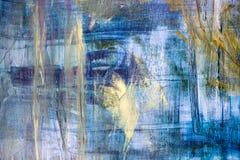 Malende künstlerische helle Farbölfarben masern abstrakte Grafik Modernes futuristisches Muster für Schmutztapete Stockfoto