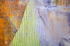 Malende künstlerische helle Farbölfarben masern abstrakte Grafik Modernes futuristisches Muster für Schmutztapete Stockbilder